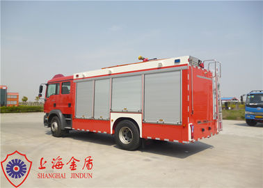 4x2 Drive CAFS Fire Truck TGSM Standard Cab With Compressed Air Foam System
