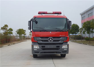 Cina Max Power 265KW Commercial Fire Trucks Total Struktur Side Girder 6500kg Water Tank pemasok