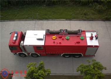 Cina Rotatable Structure Cab Water Fire Truck Dengan Electronic Direct Injection Diesel Engine pemasok