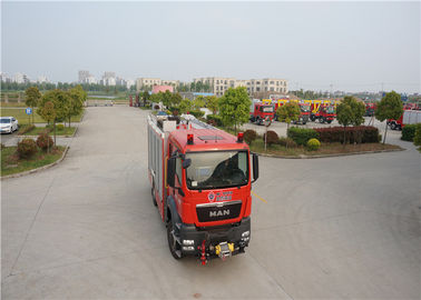 Cina TGSM Standard Cab Fire Fighting Truck Dengan Post Fire Hydrant Wrench FB450 pemasok