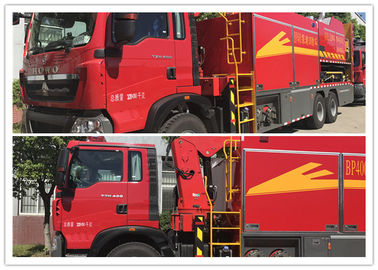 Wireless Control Water Supply Fire Brigade Truck / Fire Fighting Vehicles 294kw Max Power