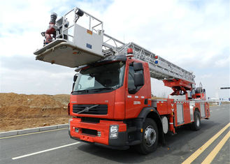 32 meters Aerial Ladder Fire Truck Euro V emission standard water cool