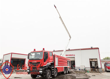 Cina Min Ground Clearance 310mm Tower Ladder Truck, Menara Penyemprotan Tinggi Api Truk Distributor