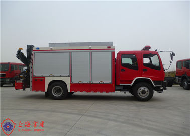 Cina ISUZU Chassis Rescue Fire Truck Max Kecepatan 95KM / H Traction Rope Panjang 28M pabrik