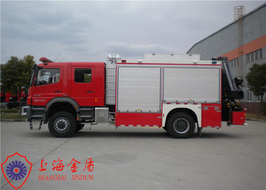 Cina 14 Ton Rescue Fire Truck Diimpor Axor1829 Chassis Bensin Bahan Bakar Salvage Fire Vehicle pabrik