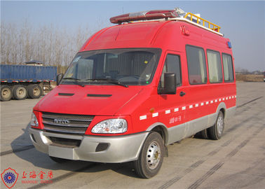 Cina Seven Seats Fire Command Vehicles Rear Overhang 1680mm Dengan Mounted Electric Generator Distributor